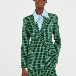 New Zara Checked Blazer